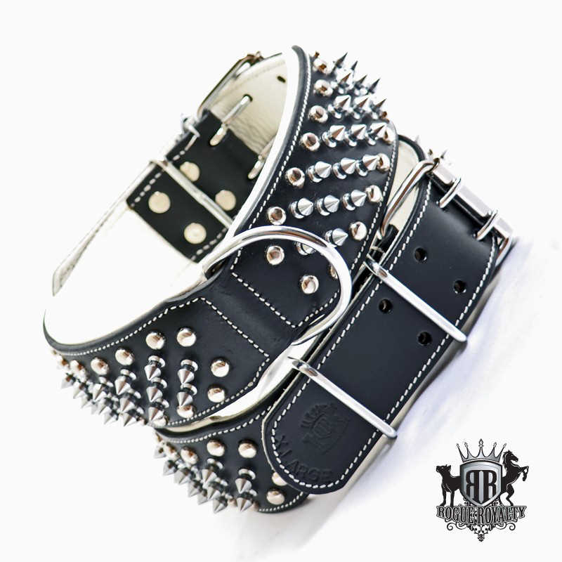 Imperial Black Studded Leather Dog Collar